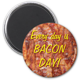 BACON! 2 INCH ROUND MAGNET