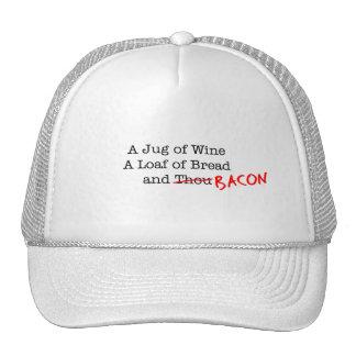 Bacon A Jug of Wine Trucker Hat