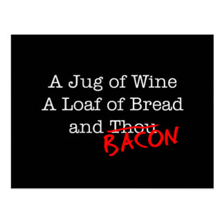 Bacon A Jug of Wine Post Cards