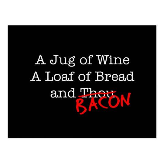 Bacon A Jug of Wine Postcard