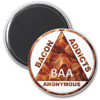 Bacon Addicts Anonymous Magnet
