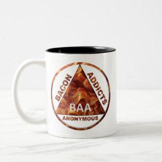 Bacon Addicts Anonymous Two-Tone Coffee Mug