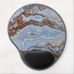 "Bacon Agate Pattern Gel Mouse Pad<br><div class=""desc"">Hard surface, oval mouse pad with gel pad wrist support to assist in your computer work and features an image of the intriguing patterns of a slab of Bacon Agate. A great gift idea for the rock hound! To see other products we have to offer, click on the Northwestphotos store...</div>"