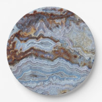 Bacon Agate Pattern Paper Plate