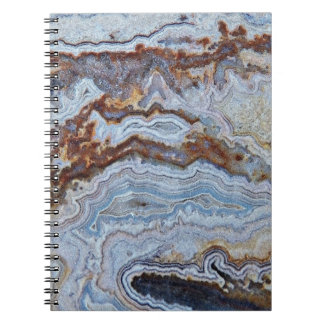 Bacon Agate Pattern Spiral Notebook