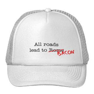 Bacon All Roads Trucker Hat