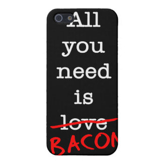 Bacon All You Need iPhone 5 Cover