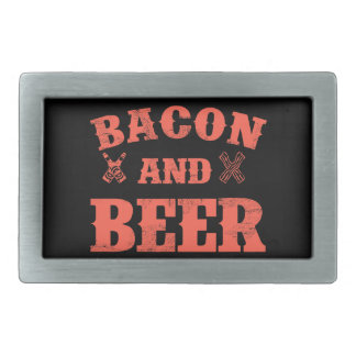 Bacon and beer belt buckle