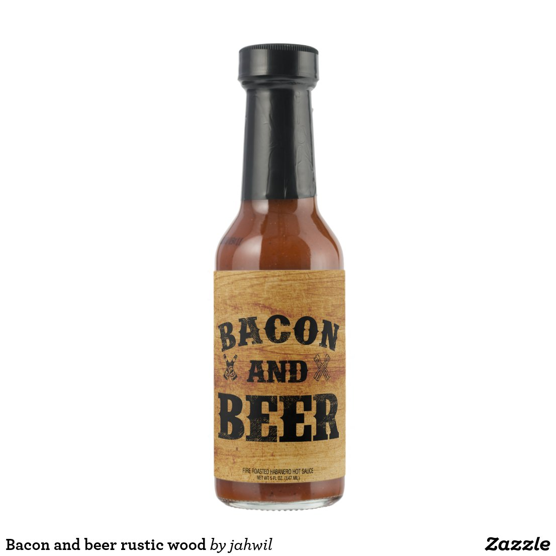 Bacon and beer rustic wood