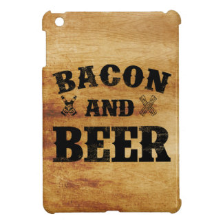 Bacon and beer rustic wood iPad mini cover