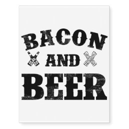 Bacon and beer temporary tattoos