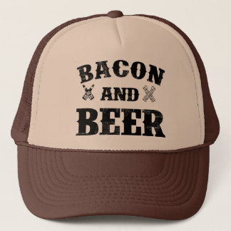 Bacon and beer trucker hat