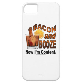BACON and BOOZE! Now I'm Content - Cocktail humor iPhone SE/5/5s Case