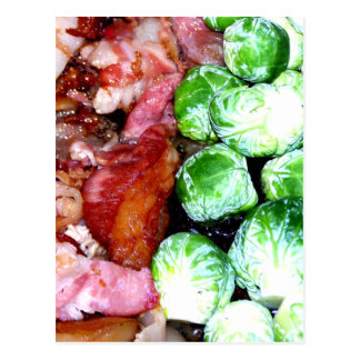 Bacon and Brussels Postcard
