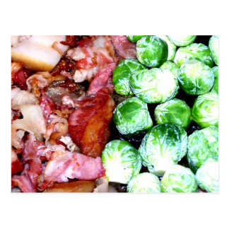 Bacon and Brussels Postcards