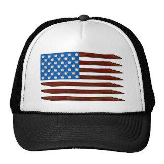 Bacon And Cupcake Flag Trucker Hat