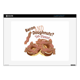 Bacon And Doughnuts Decal For Laptop