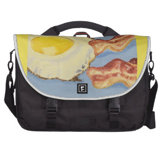 Bacon and Egg Breakfast painting Computer Bag
