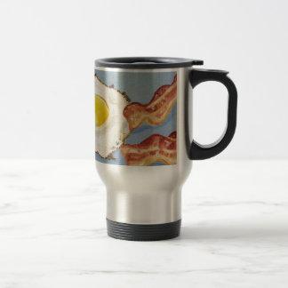 Bacon and Egg Breakfast painting Travel Mug