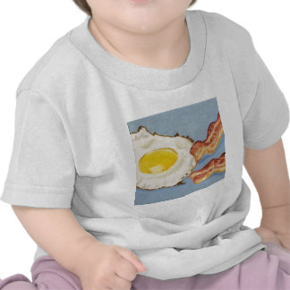 Bacon and Egg Breakfast painting T Shirt