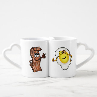 Bacon and Egg  Double Connecting Mug Set