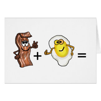 Bacon and Egg Romantic Couples Greeting Card