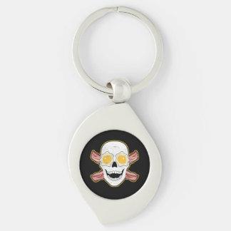 Bacon and Egg Skull Keychain