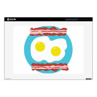 """Bacon and Eggs 15"""" Laptop Skins"""