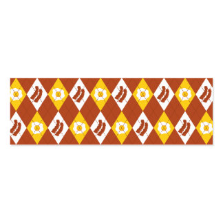 Bacon and Eggs Argyle Pattern Business Card Template