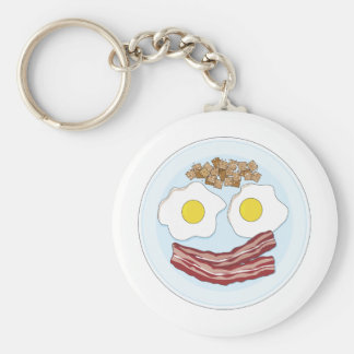 Bacon and Eggs Basic Round Button Keychain
