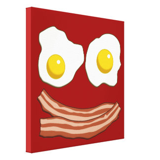 Bacon and Eggs Stretched Canvas Prints