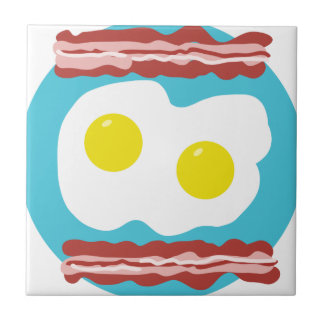 Bacon and Eggs Ceramic Tile