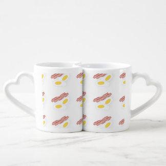 Bacon And Eggs Design Coffee Mug Set