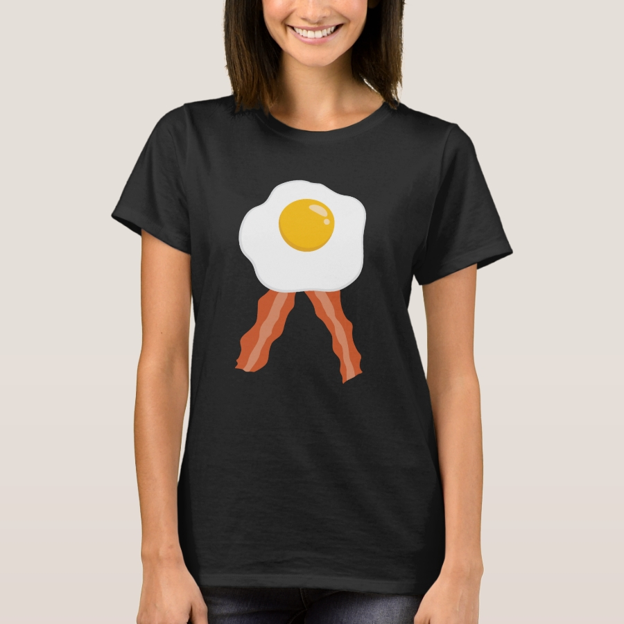Bacon and Eggs Funny Design for Bacon and Egg T-Shirt - Best Selling Long-Sleeve Street Fashion Shirt Designs