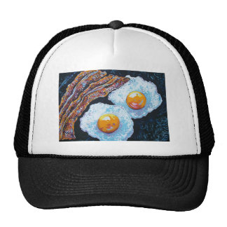 BACON AND EGGS IN A PAN MESH HATS
