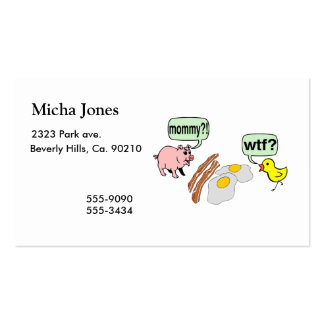 Bacon And Eggs Nightmare Business Card