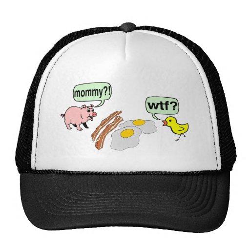 Bacon And Eggs Nightmare Trucker Hats