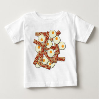 Bacon and Eggs Pattern Baby T-Shirt