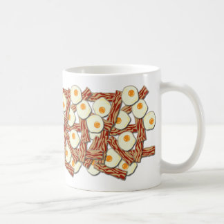 Bacon and Eggs Pattern Classic White Coffee Mug