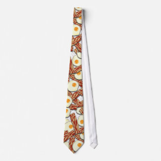 Bacon and Eggs Pattern Neck Tie