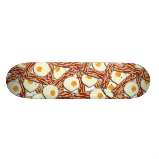 Bacon and Eggs Pattern Skateboard Deck