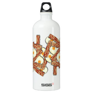 Bacon and Eggs Pattern Water Bottle