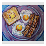 BACON AND EGGS POSTER