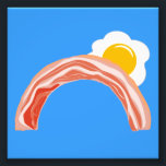 "Bacon and Eggs Rainbow Photo Print<br><div class=""desc"">Bacon and eggs provide a glorious rainbow skyscape.  Wear it for breakfast.</div>"