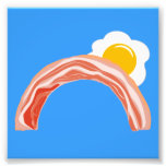 Bacon and Eggs Rainbow Photographic Print
