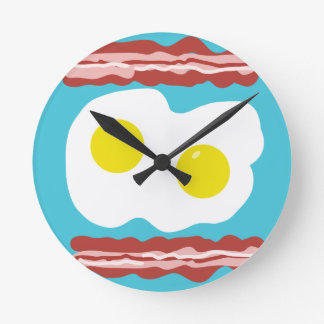 Bacon and Eggs Round Clock