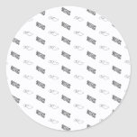 bacon and eggs round sticker