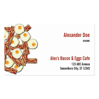 Bacon and Eggs Shop Business Card