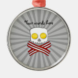 Bacon and eggs skull and crossbones ornament