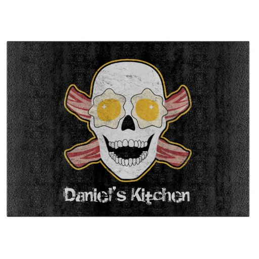 Bacon and Eggs Skull Cutting Boards